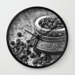 Black Pepper Wall Clock