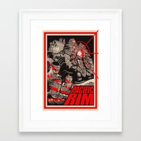 pacific rim Framed Art Prints featuring PACIFIC RIM by Messypandas