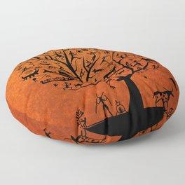 African Tree of Life Floor Pillow