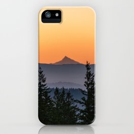Mount Jefferson Morning - Nature Photography iPhone Case