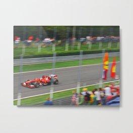 Fernando Alonso - 2013 Gran Premio d'Italia Metal Print