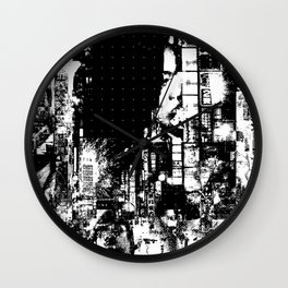 Nightlife - The beast is her guardian angel Wall Clock