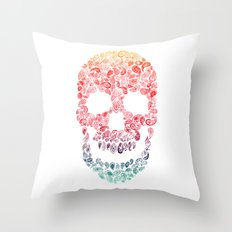 Death By Paisley Throw Pillow