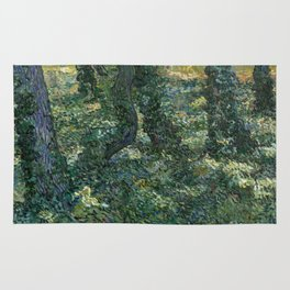 "Vincent Van Gogh ""Trees and undergrowth"" Rug"