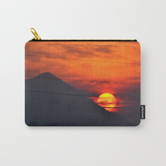 SUNSET OVER MOUNT HOOD Carry-All Pouch