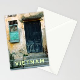 ANTIQUE CHINESE WALL of HOI AN in VIETNAM Stationery Cards