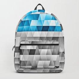 Blue Stripe Geometric Pattern Backpack