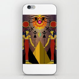 Hathor under the eyes of Ra -Egyptian Gods and Goddesses iPhone Skin
