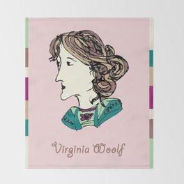 Virginia Woolf - hand-drawn portrait Throw Blanket