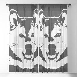 SHIBA INU JAPANESE DOG Sheer Curtain