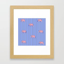 strip and elephants (https://society6.com/vickonskey/collection) Framed Art Print