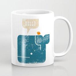 Whale Says Hello to Bird Coffee Mug