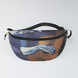Pablo Picasso The Old Guitarrist 1903 Grunge Artwork Shirt, Reproduction Fanny Pack