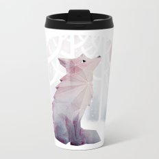 Fox in the Snow Metal Travel Mug
