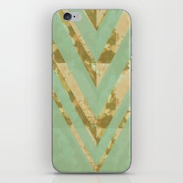 blooming chevron iPhone Skin