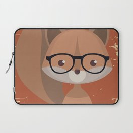 Hipster Squirrel Laptop Sleeve