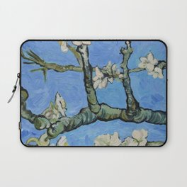 Flowering almond branches oil painting Laptop Sleeve