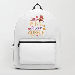 Little Miss Gobble Gobble Cute Thanksgiving Backpack