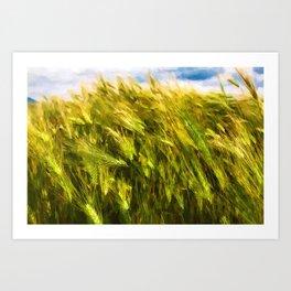 Summer wheat field Spain - Painting Art Print