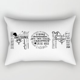 Awesome Mom with Baseball Hat Rectangular Pillow