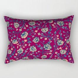 Watercolor Peonies - Ruby Red Rectangular Pillow