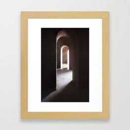 Arches, darkness into ligt Framed Art Print