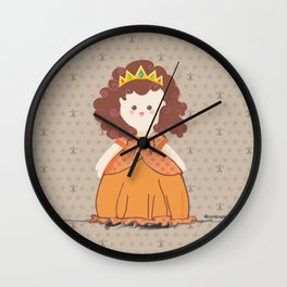 Brunette Princess Wall Clock