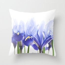 Bue Iris 2 Throw Pillow