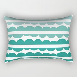Mordidas Gradient Green Rectangular Pillow