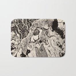 Entanglement (Untitled Face II) Bath Mat