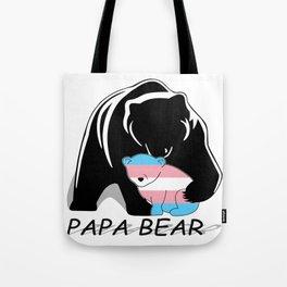 Papa Bear Transgender Tote Bag