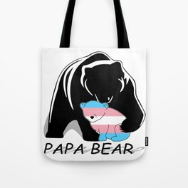 Papa Bear Transgender Tote Bag