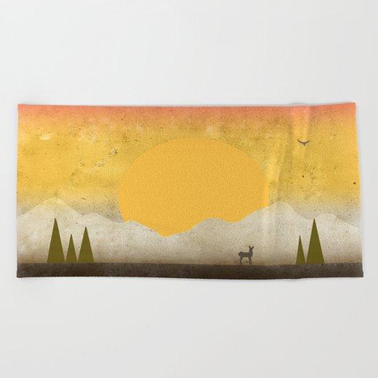 In Solitude Beach Towel