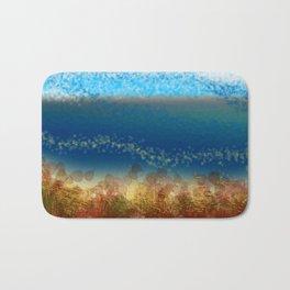 Abstract Seascape 01 w Bath Mat