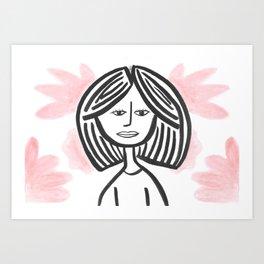 Big Hair, Don't care Art Print