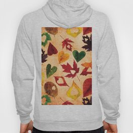 Happy autumn - hearts and leaves pattern Hoody