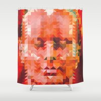 muscle Shower Curtains featuring Muscle Man by Donovan Justice