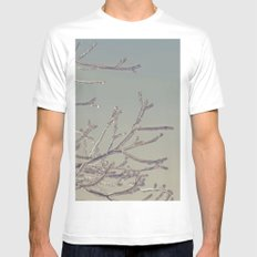 Winters Icy Chill White Mens Fitted Tee MEDIUM