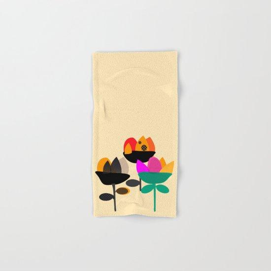 Three Flowers Hand & Bath Towel
