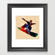 Snowboard Framed Art Print