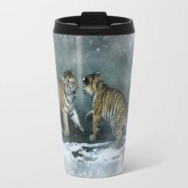 Playful Tiger Cubs Travel Mug