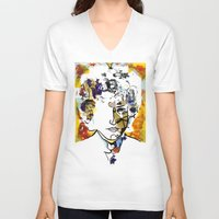 bob dylan V-neck T-shirts featuring bob dylan by Chris Shockley - shock schism