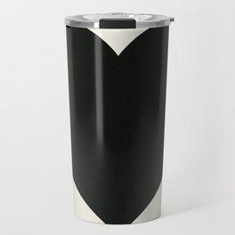 Black Heart Travel Mug