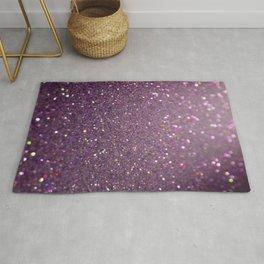 Purple Galaxy Glitter Rug