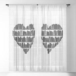 Book Lover II Sheer Curtain