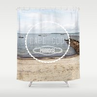 cape cod Shower Curtains featuring Cape Cod Paradise  by Caroline Fahey