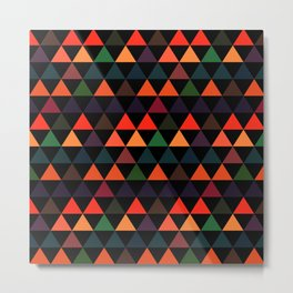 Triangle abstract background- EFG208 Metal Print