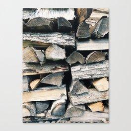 Woodpile II Canvas Print