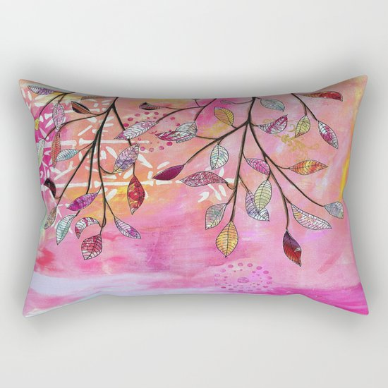 branch triptych No. 3 Rectangular Pillow