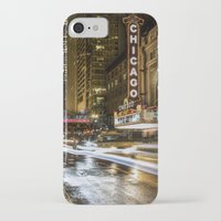 theatre iPhone & iPod Cases featuring Chicago Theatre by Photobyrne